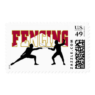 Fencing Match Postage