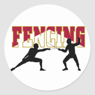 Fencing Match Stickers