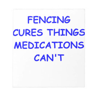 FENCING MEMO NOTEPADS