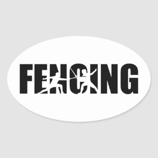 Fencing Oval Sticker