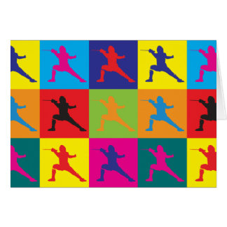 Fencing Pop Art Card