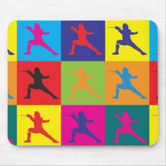 Fencing Pop Art Mouse Pad