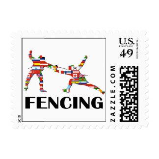 Fencing Postage Stamp