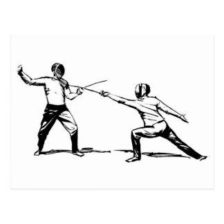 Fencing Postcard