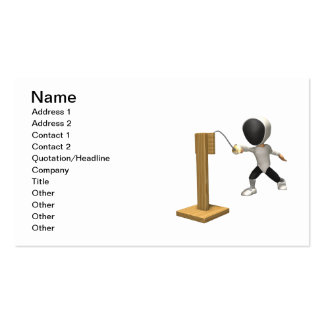 Fencing Practice 2 Double-Sided Standard Business Cards (Pack Of 100)