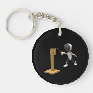 Fencing Practice 2 Keychain