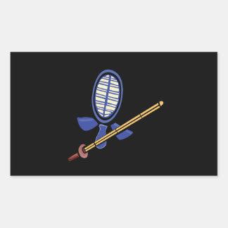 Fencing Practice Rectangular Sticker