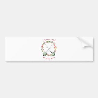 Fencing Princess Floral Foils Car Bumper Sticker
