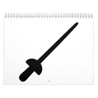 Fencing saber calendar