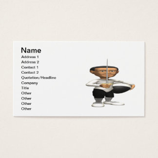 Fencing Salute Business Card