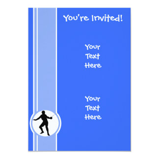 Fencing Silhouette; blue Card
