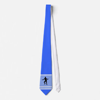 Fencing Silhouette; blue Neck Tie