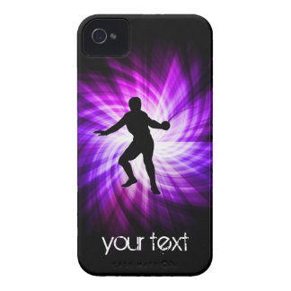 Fencing Silhouette; purple iPhone 4 Cover