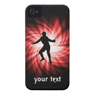 Fencing Silhouette; Red iPhone 4 Cover
