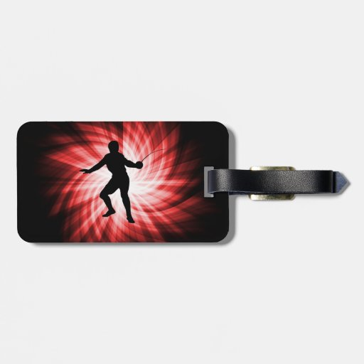 Fencing Silhouette; Red Tag For Luggage
