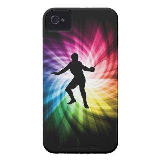Fencing Silhouette; Spectrum iPhone 4 Case