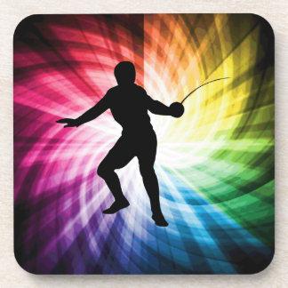 Fencing Silhouette; Spectrum Coaster