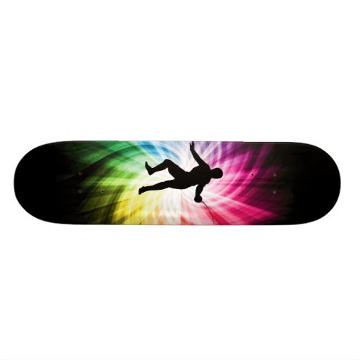 Fencing Silhouette; Spectrum Custom Skateboard