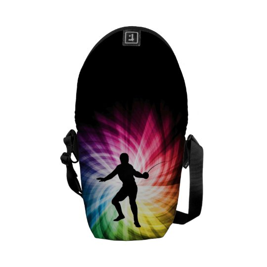 Fencing Silhouette; Spectrum Messenger Bag