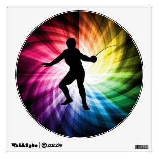 Fencing Silhouette; Spectrum Room Decal