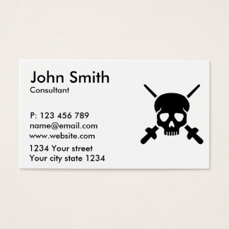 Fencing skull business card