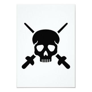 Fencing skull card