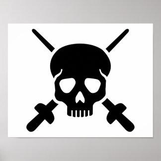 Fencing skull poster
