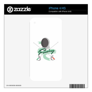 Fencing Sport Decal For The iPhone 4S