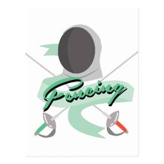 Fencing Sport Postcard