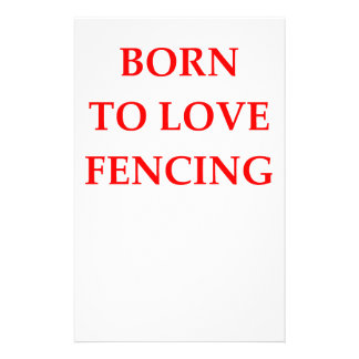 FENCING STATIONERY