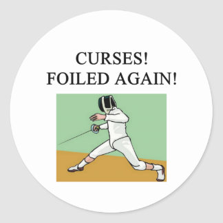 fencing round sticker
