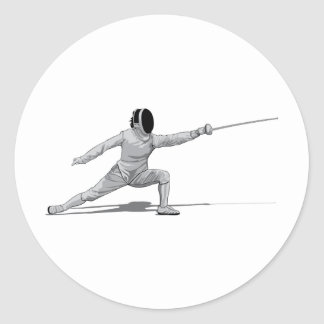 Fencing Round Stickers