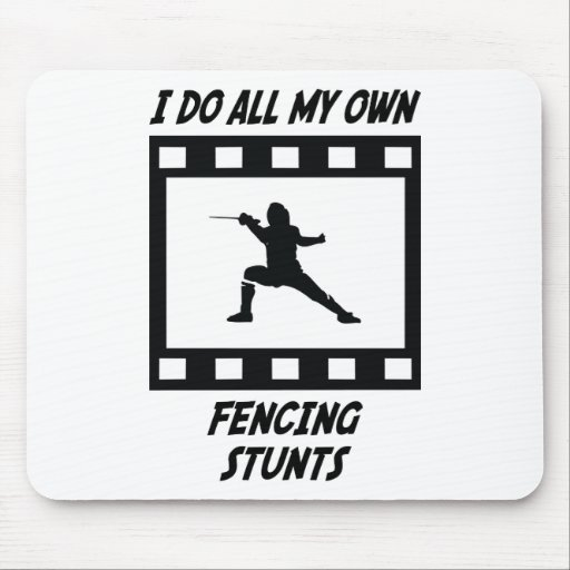 Fencing Stunts Mouse Pad