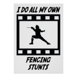 Fencing Stunts Poster
