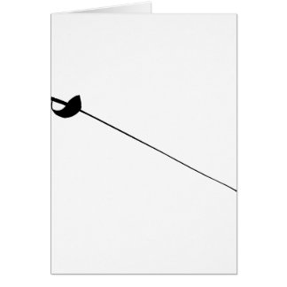 Fencing Sword Outline Silhouette Card
