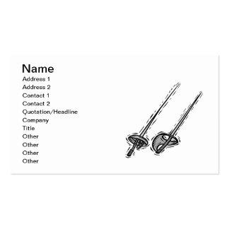 Fencing Swords Business Card