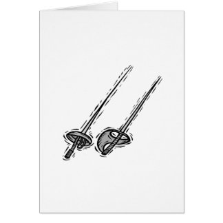 Fencing Swords Card