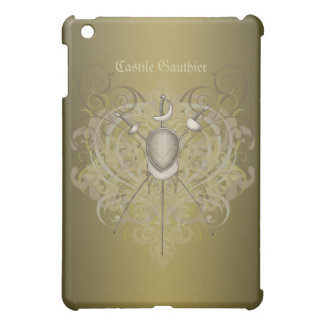 Fencing Swords Gold Scroll  iPad Mini Cover