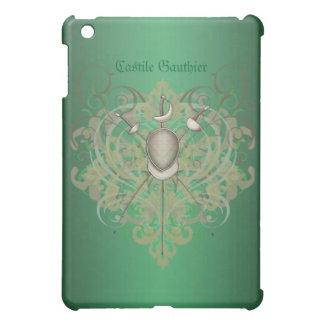 Fencing Swords Green Scroll  iPad Mini Case