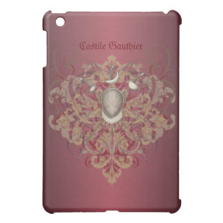 Fencing Swords Red Scroll  Case For The iPad Mini