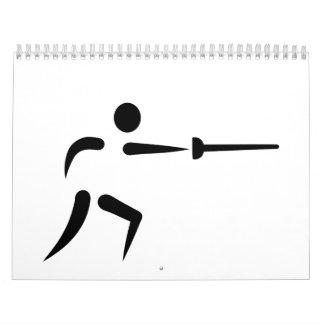 Fencing symbol calendars