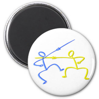 Fencing T-shirts and Gifts. 2 Inch Round Magnet
