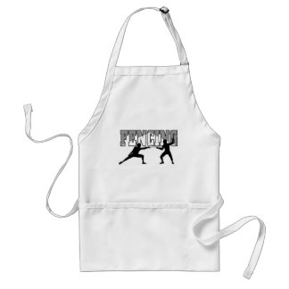 Fencing T-shirts and GIfts. Adult Apron