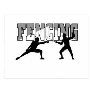 Fencing T-shirts and GIfts. Postcard
