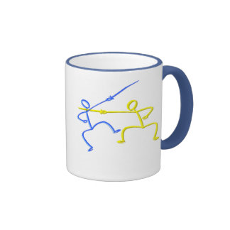 Fencing T-shirts and Gifts. Ringer Coffee Mug