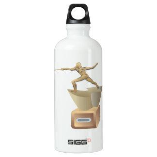 Fencing Trophy Aluminum Water Bottle