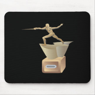 Fencing Trophy Mouse Pad