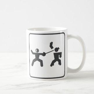 Fencing vs Karate Coffee Mug