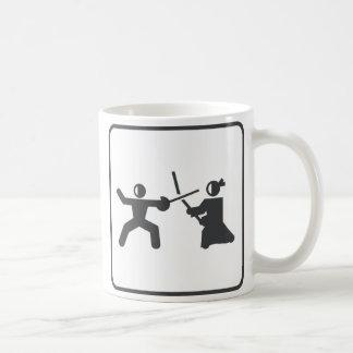 Fencing vs Kendo Classic White Coffee Mug