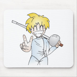 Fencing with Smile Mouse Pad
